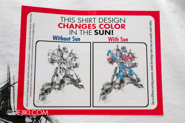 USS May Park Update - Transformers Optimus Prime UV activated T-shirt 2