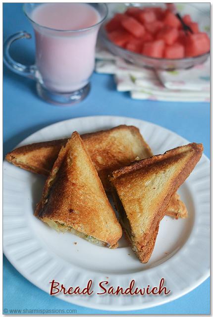 Veg Bread Sandwich Recipe