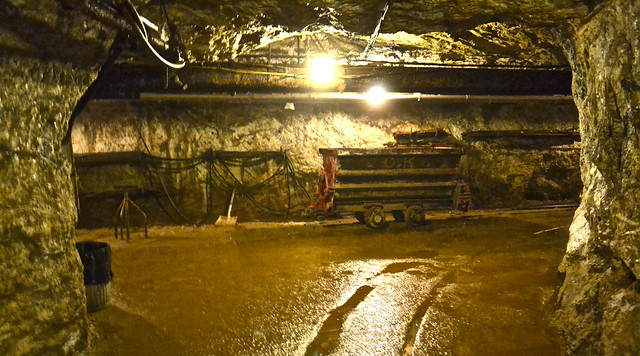 mining tunnels and carts - mine tour
