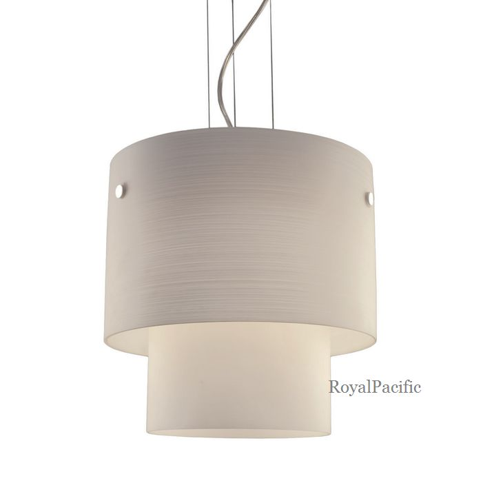 new 1 lamp 2 tier pendant lighting fixture with large cylinder shape