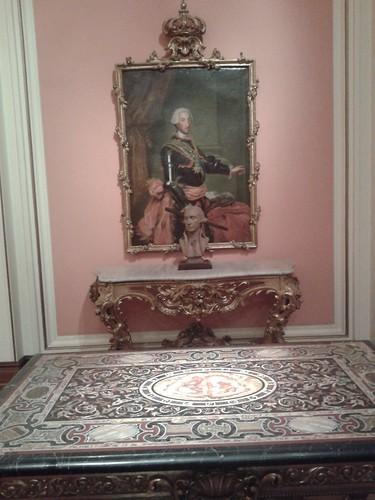 Carlos III y mesa del general Murat