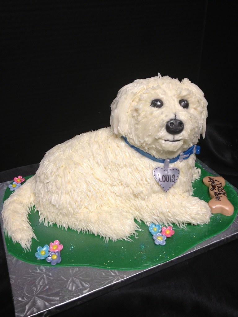 how to make a dog shaped cake