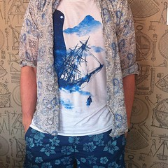 art, pattern, textile, clothing, sleeve, outerwear, design, shirt, blue, paisley,