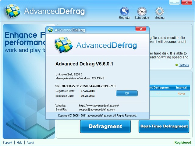 Advanced Defrag V6.6.0.1