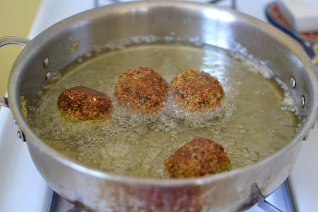 Homemade Falafel with Yogurt-Tahini via LittleFerraroKitchen.com