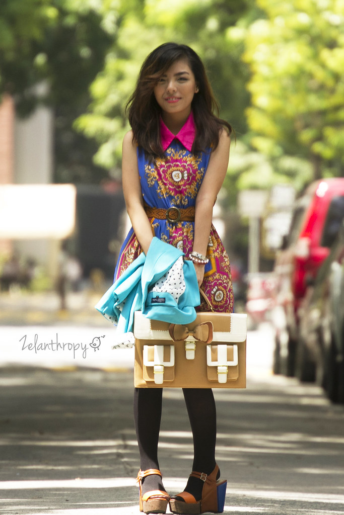 walk with me, fashion, filipino fashion, street fashion, korean fashion, FAB, art nouvaeuo dress, color blocked outfit, fashion photography, filipina blogger