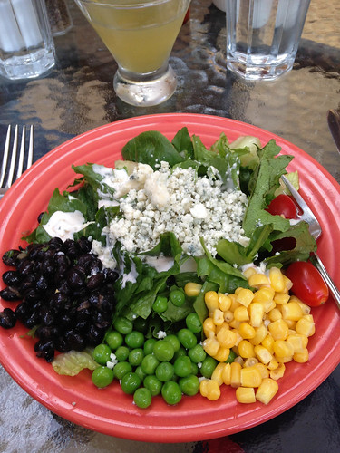 A plate of salad.