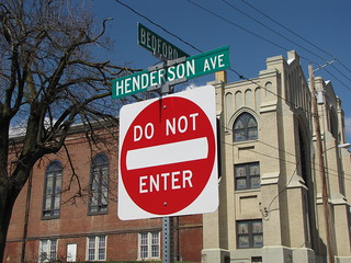 Intersection of Bedford Street and Henderson Avenue
