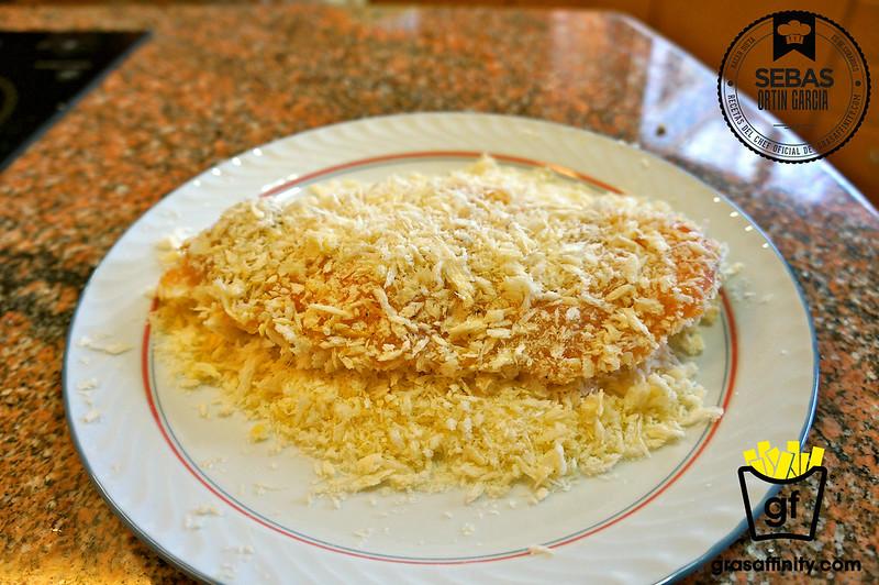 Sándwich de pollo empanado con panko // grasaffinity