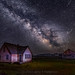 Milky Way At The Mormon Row Home by Jerry T Patterson
