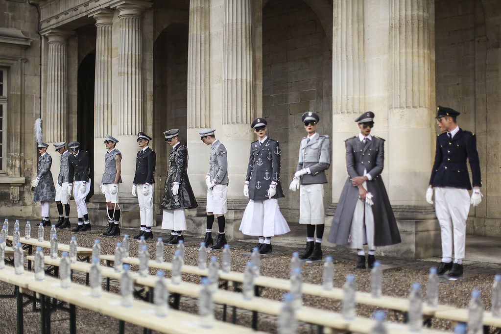 thom browne 2014 backstage