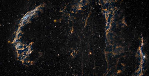 The Veil Nebula - bi-colour by Mick Hyde