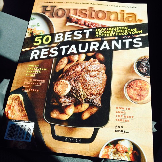 #Houstonia Magazine #October edition. 50 best restaurants in #Houston. How we became America's hottest #food town. #noms I missed out on #September, couldn't find it anywhere. Pretty bummed about it. @houstoniamag #houtx #texasbaby #ilovemycity #hiwi