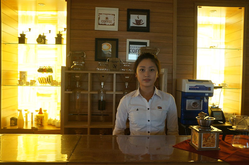 Barista at Pyongyang Hotel Cafe