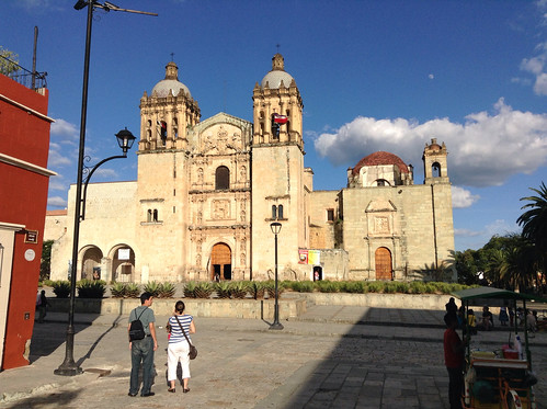 Favorite time of day to take a photo of Santo Domingo is late afternoon @ Oaxaca 10.2013