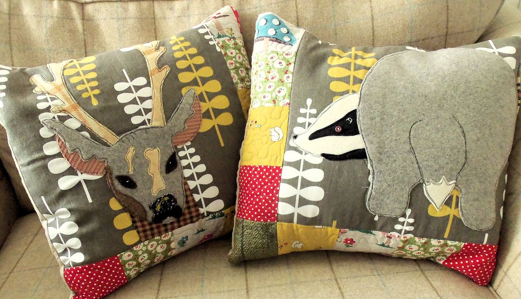Woodland animals cushion covers u bustle sew