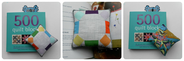 500 Quilt Blocks pin cushion