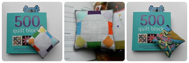 500 Quilt Blocks pin cushion