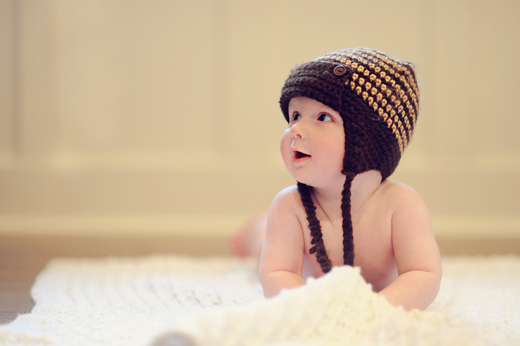 Baby in ski gear photography