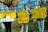 Mahnwache in Frankfurt/Main gegen den Belo-Monte-Staudamm in Brasilien (freundlich überlassen von einer Frankfurter Freundin )