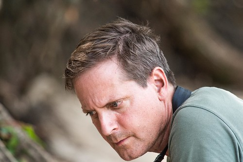 portrait of JohnF concentrating on an ant