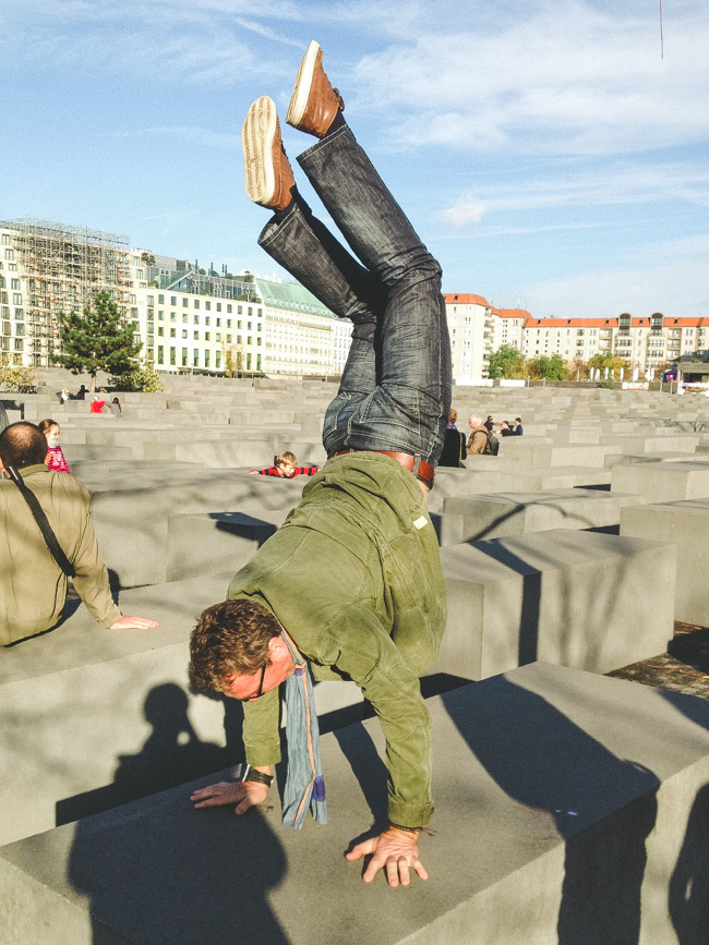 Treat the Memorial for the Murdered Jews of Europe like a jungle gym