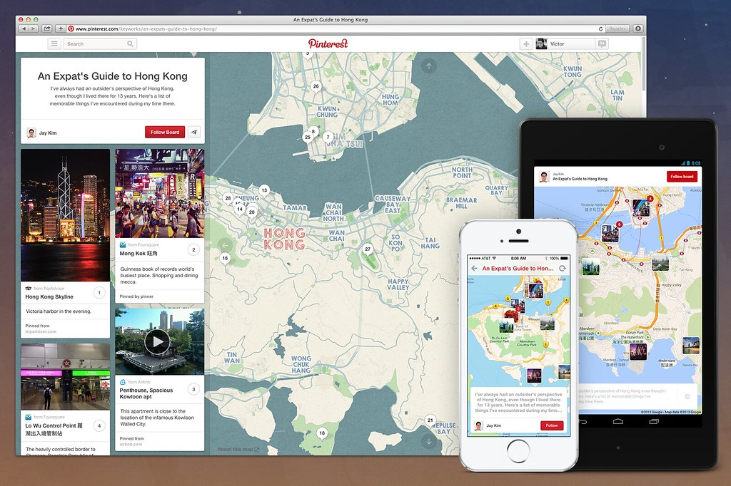 Pinterest now has maps
