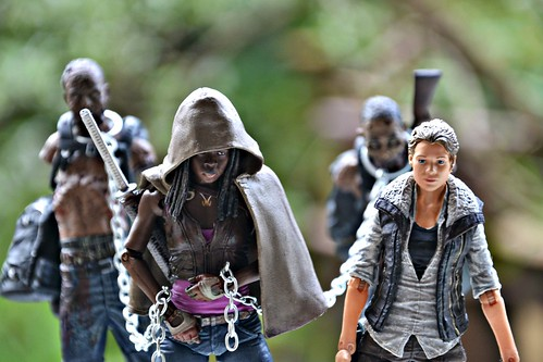 Michonne & Andrea on the road
