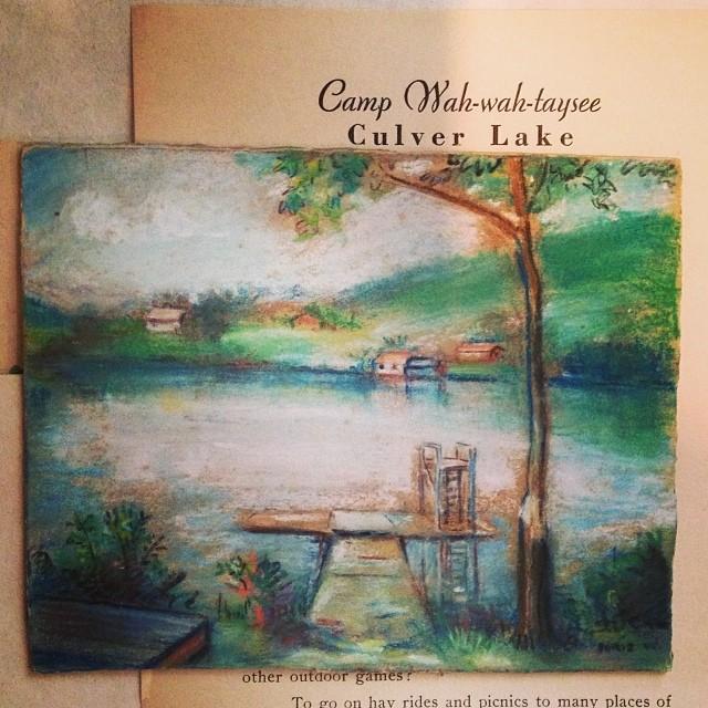 Tiny pastel by Doris Watkins. #campwahwahtaysee #culverlake