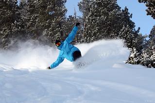 Esquiando en Les Angles.