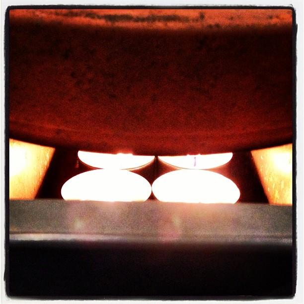 Terracotta Pot Candle Heater