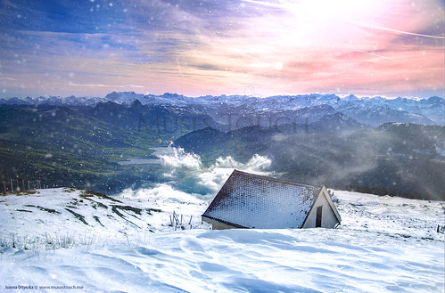 winter sunset snow mountains landscape switzerland scenery mountainhut winterbeauty rigi creativemindsphotography bestcapturesaoi elitegalleryaoi joannaortynska musestouch