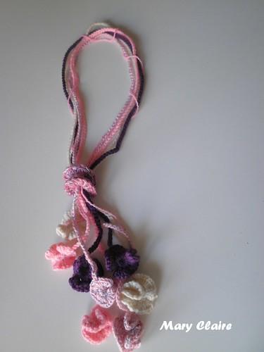collana fiori rosa-viola