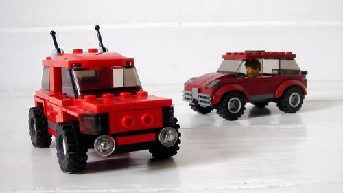 Red SUVs