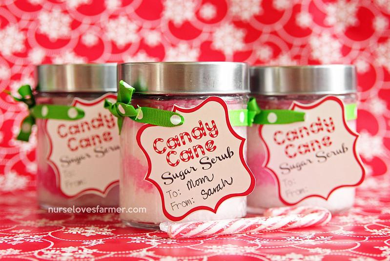 DIY Candy Cane Sugar Scrub