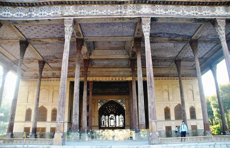 57 Palacio de Chehel Sotun o de las 40 columnas en Isfahan (5)