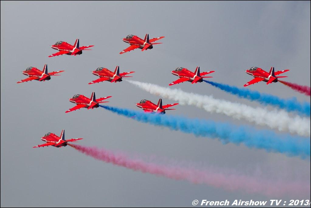 Red Arrows ,60 ans Patrouille de France , Meeting Aerien 2013