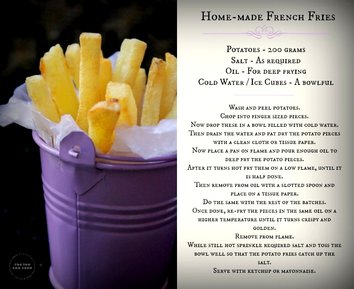 French fries recipe homemade french fries potato fries print friendly and pdf forumfinder Gallery