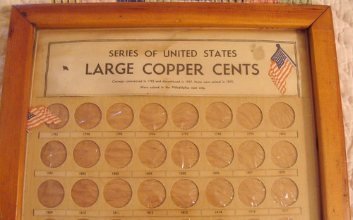 Homemade Large Cent coin board 2