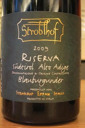 Stroblhof, Alto Adige Blauburgunder Riserva 2009