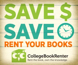 Save money, save time. Rent your books with College Book Renter.