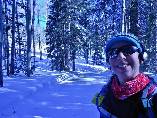 Skiing Up Keenan