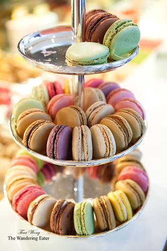 Rainbow tier of Ladurée's macarons