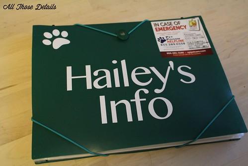 Dog Paperwork Folder 2