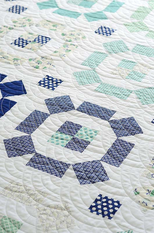 Puddle Jumping Quilt by Thimble Blossoms featuring April Showers by Bonnie & Camille for Moda Fabrics