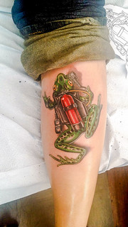 Dive Frog Tattoo