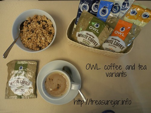 OWL coffee and tea variants
