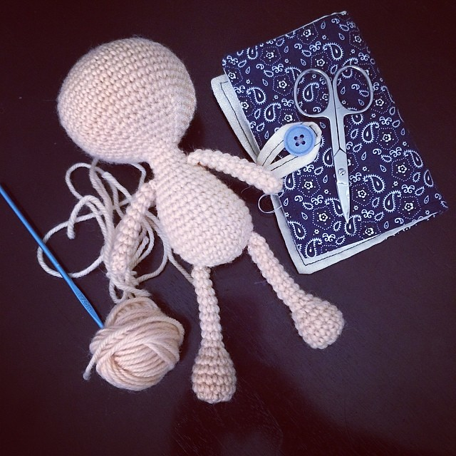 Now to add some hair. #crochet #amigurumi