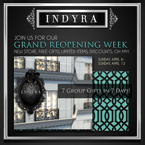 {Indyra} Grand Reopening Week. 7 Days of Gifting! _3 Indyra