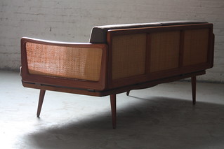 Satisfying Danish Mid Century Modern Teak Peter Hvidt Sofa for John Stuart (Denmark, 1960s)